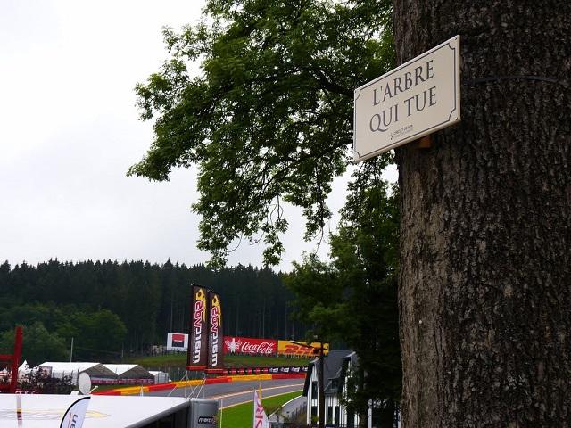 """Deux cents anciens pilotes des """"24 Heures de Spa...ou de Francorchamps se retrouveront samedi à la buvette de """"l'arbre qui tue""""."""
